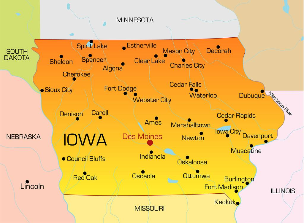 Major Cities Near Iowa City