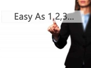 Easy As 1,2,3... - Businesswoman Hand Pressing Button On Touch S
